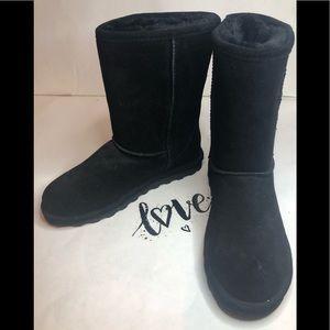 Bear Paw Veganl Winter Boots Black Women's 10